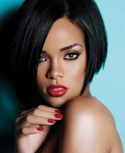Rihanna's asymmetrical hairdo